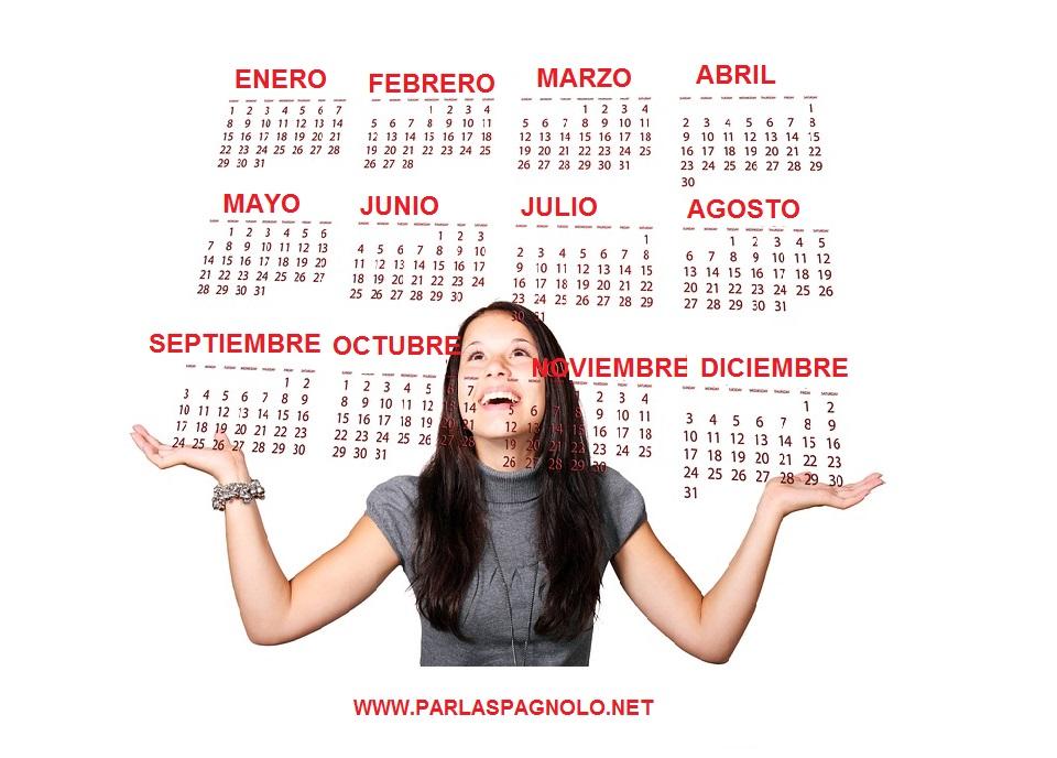 Calendario Spagnolo.I Mesi I Giorni E Le Stagioni In Spagnolo Parlaspagnolo